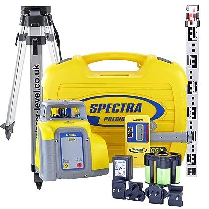 Spectra Precision ll300 N Deluxe - Kit de nivel láser (incluye detector de HR320,