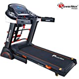 Powermax Fitness TDA-230M 2 HP (4 HP Peak) Motorized Treadmill for Home Use - Free Installation Service - 3 Years Motor Warranty - with Semi-Auto Lubrication, Multifunction