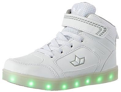 Lico Disco High Kinder Sneaker mit LED-Blinklicht 36 EU weiß E9nG9IrCyA