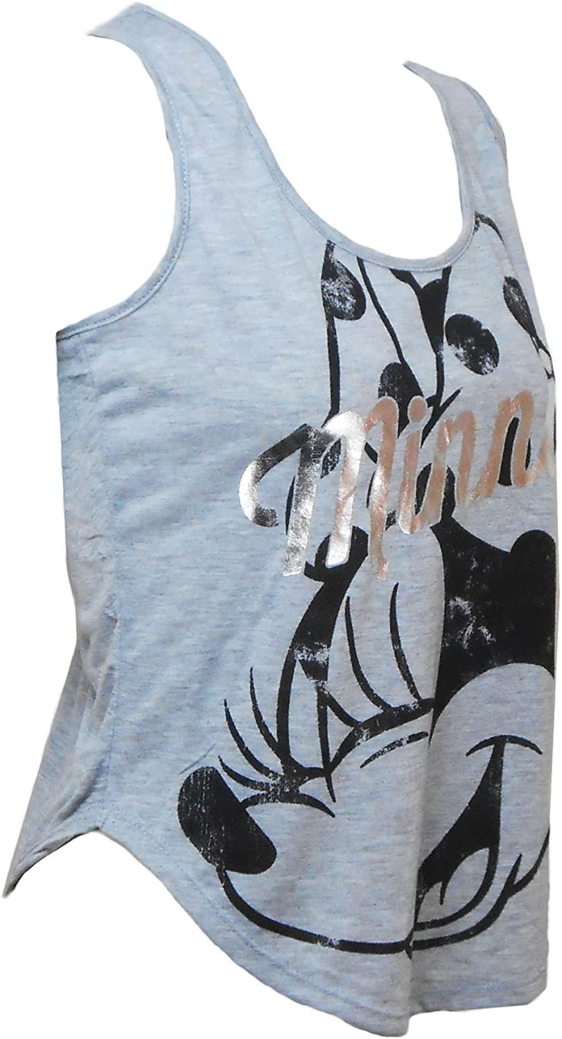 Disney Juniors Minnie Mouse Silver Letters Tank Top