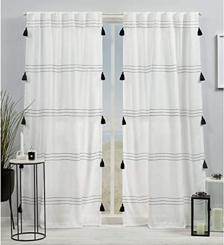 Exclusive Home Curtains Demi Light Filtering Hidden Tab Top Curtain Panel Pair