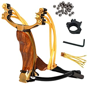 Professional Slingshot Stainless Steel Outdoor Hunting Sling Shot High Velocity Catapult