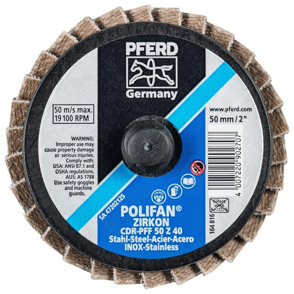 """PFERD 42924 Combidisc Quick Change Disc, Type CDR, Zirconia Alumina, 2"""" Diameter, 40 Grit, 19100 RPM (Pack of 10) 71sVMr6xO4L"""