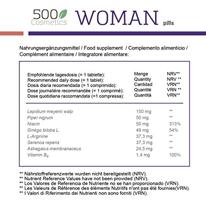 Amazon.com: 500Cosmetics Woman-Natural Tablets to Relieve ...