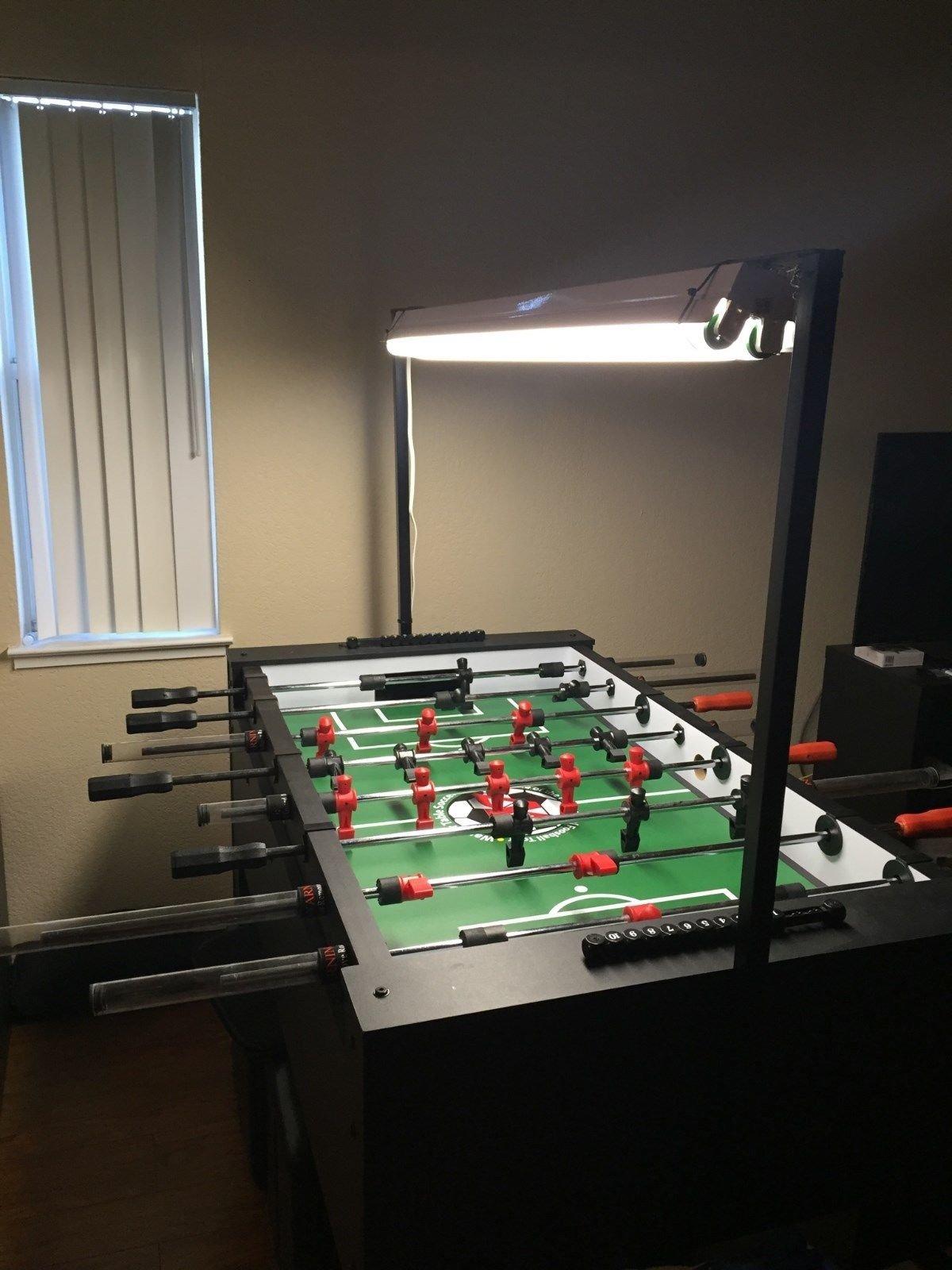 Warrior Table Soccer Foosball Light Fixture Sleek Design Mounting Kit