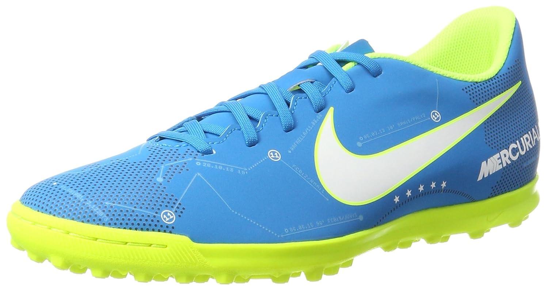 Nike Mercurialx Vortex III NJR TF, Zapatillas de Fútbol para Hombre 45.5 EU|Turquesa (Blue Orbit/White/Blue Orbit/Armory Navy/Volt/Volt)