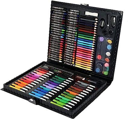 Juego de lápices de colores profesional de 135 piezas, estuche para lápices de colores para dibujar