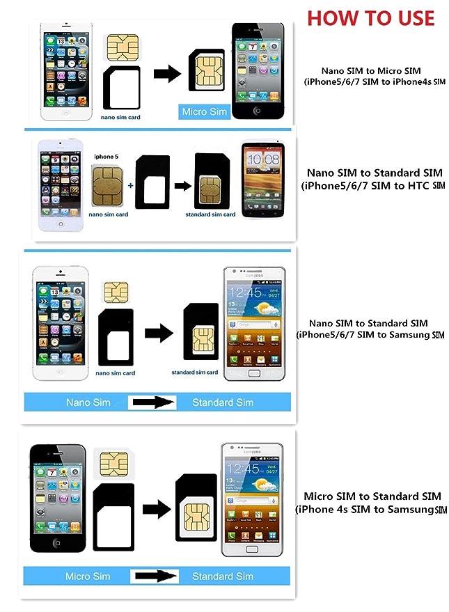 Amazon.com: Samdi adaptador de tarjeta SIM kit incluye ...