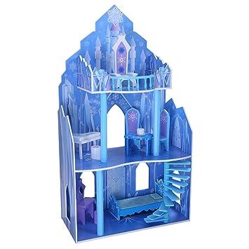 Eiskönigin Schloss Barbie Puppenhaus Eispalast aus Holz Barbiehaus ...