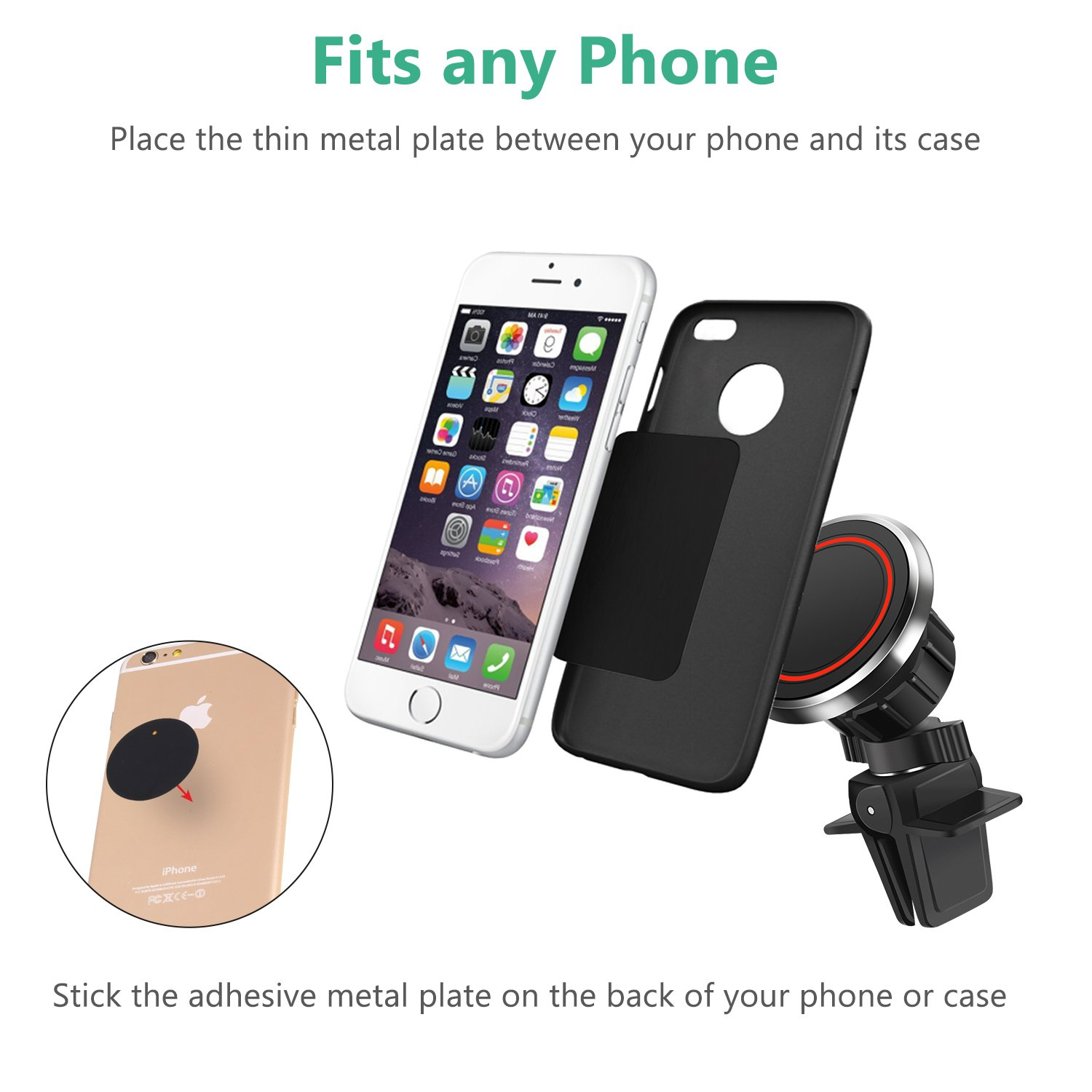 8 Plus Black Wireless Car Charger 2 Packs Cell Phone Holder for Car,3-in-1 ARW Gravity Auto-Clamping Air Vent Car Charger Phone Mount Cradle for iPhone X S8 Plus and More 7//7 Plus Samsung Galaxy S9 S9 Plus S8