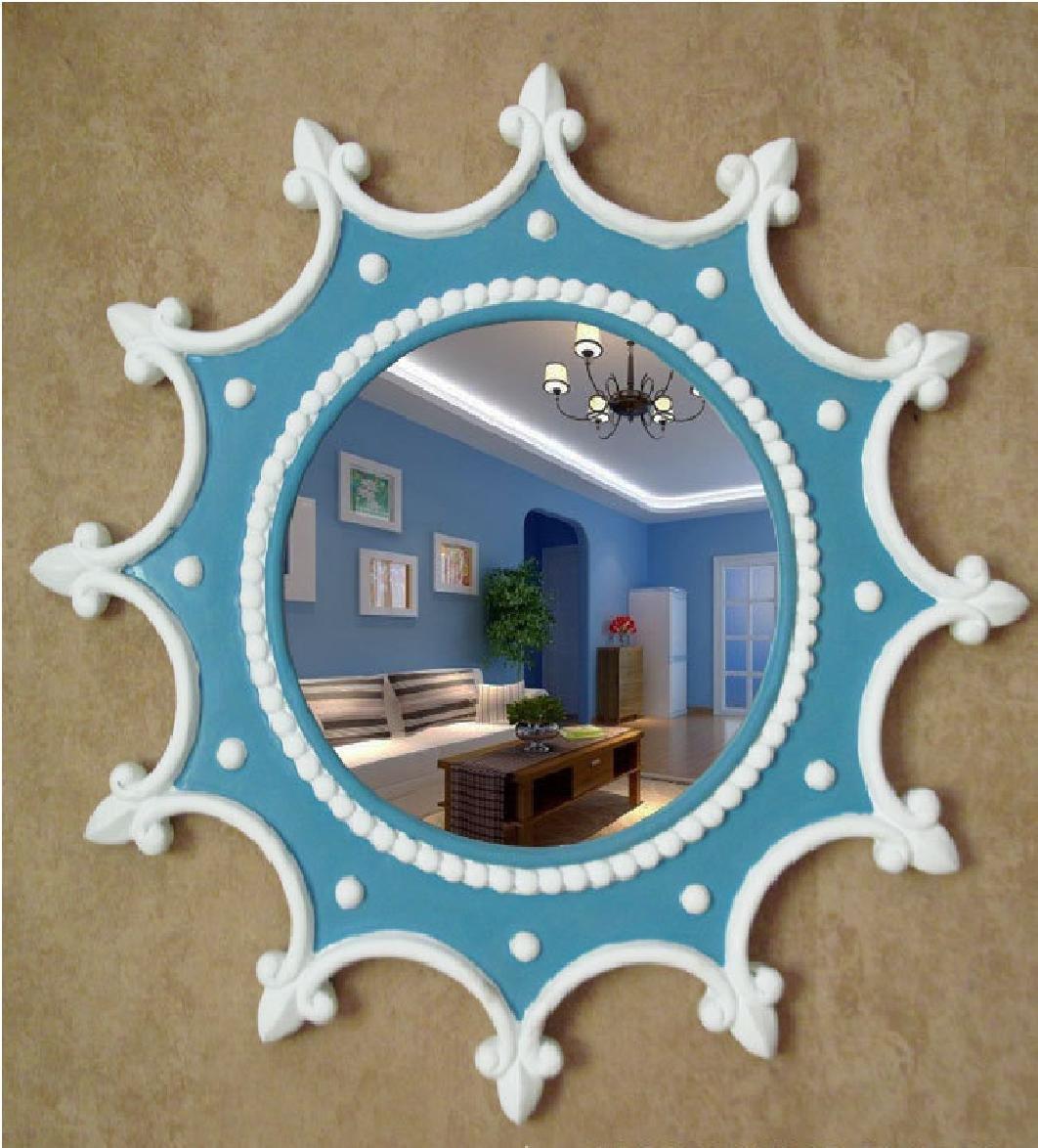 Xiuxiangianju Dekorative Spiegel Mittelmeer-Stil Möbel Ruder Wand ...