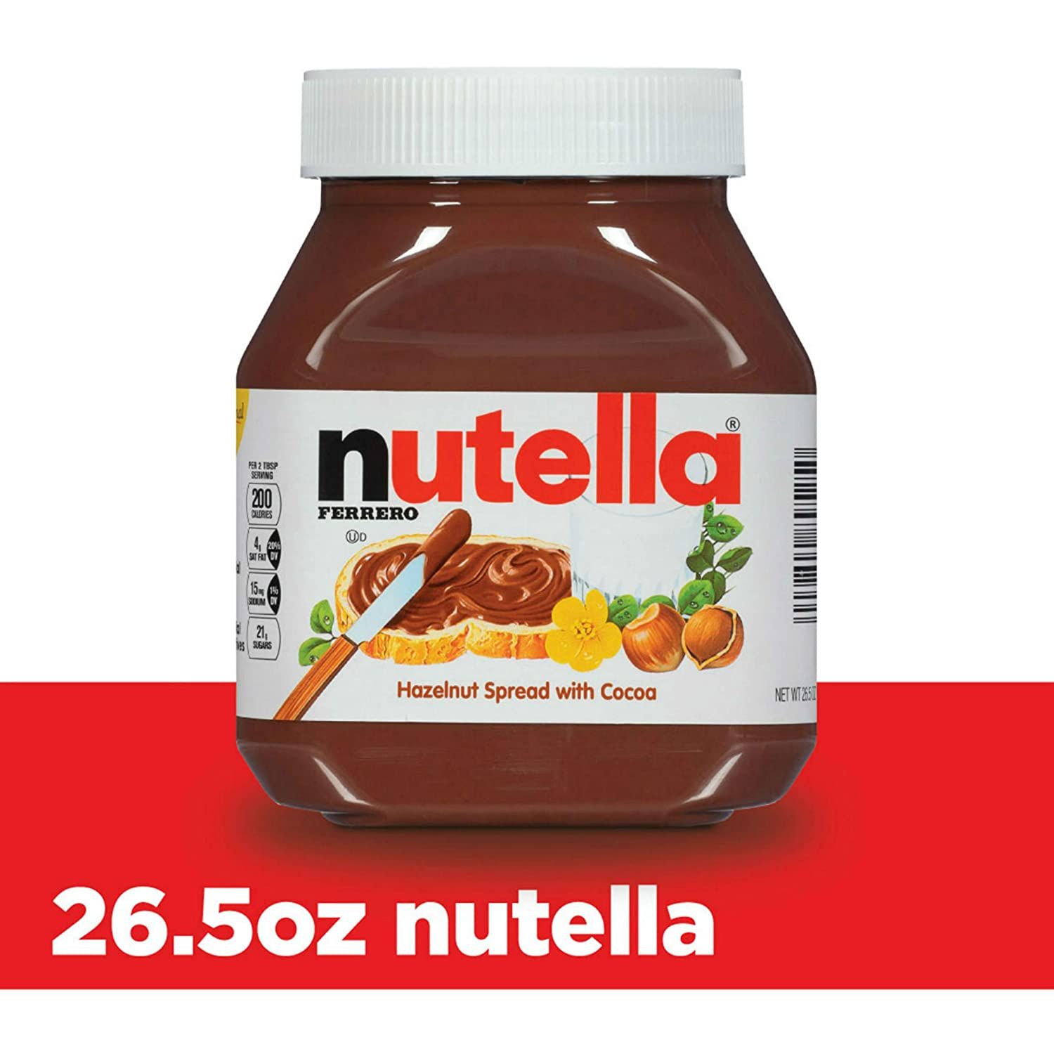 Nutella Chocolate Hazelnut Spread, Perfect Topping for Pancakes, 26.5 Ounce (Pack of 1) 71sVS02Bau2L