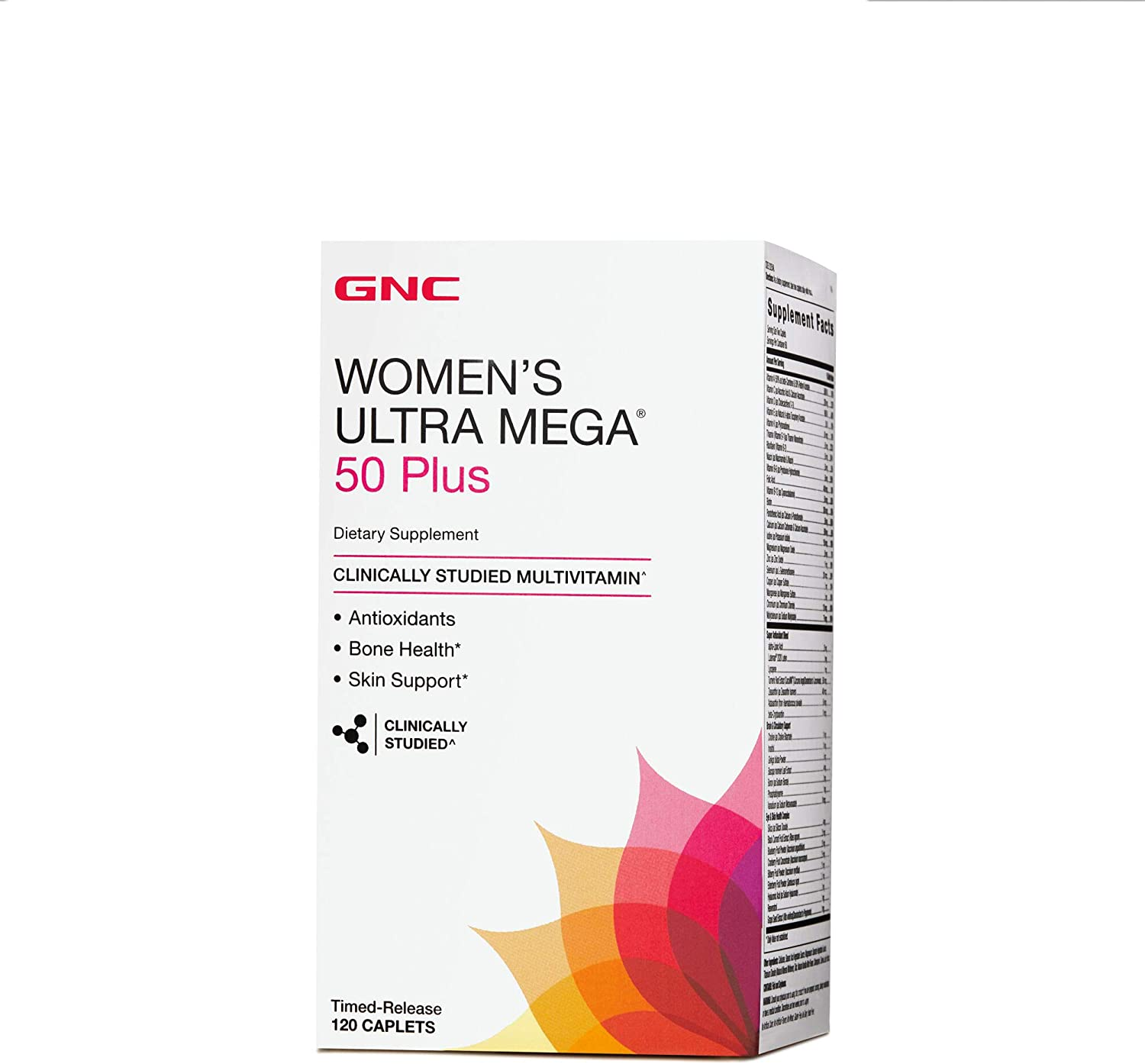 GNC Womens Ultra Mega 50 Plus Multivitamin for Women, 120 Count, Vitamin, Multivitamin