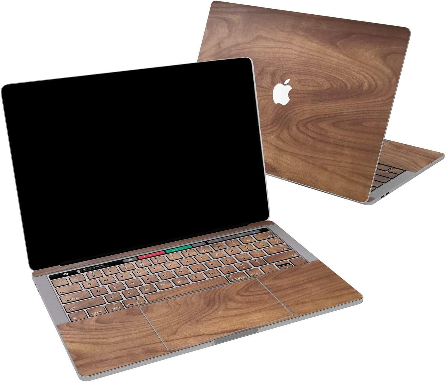 Lex Altern Vinyl Skin for MacBook Air 13 inch Mac Pro 16 15 Retina 12 11 2020 2019 2018 2017 Solid Wood Luxury Texture Walnut Real Look Men Print Girl Touch Bar Cover Keyboard Decal Sticker Top