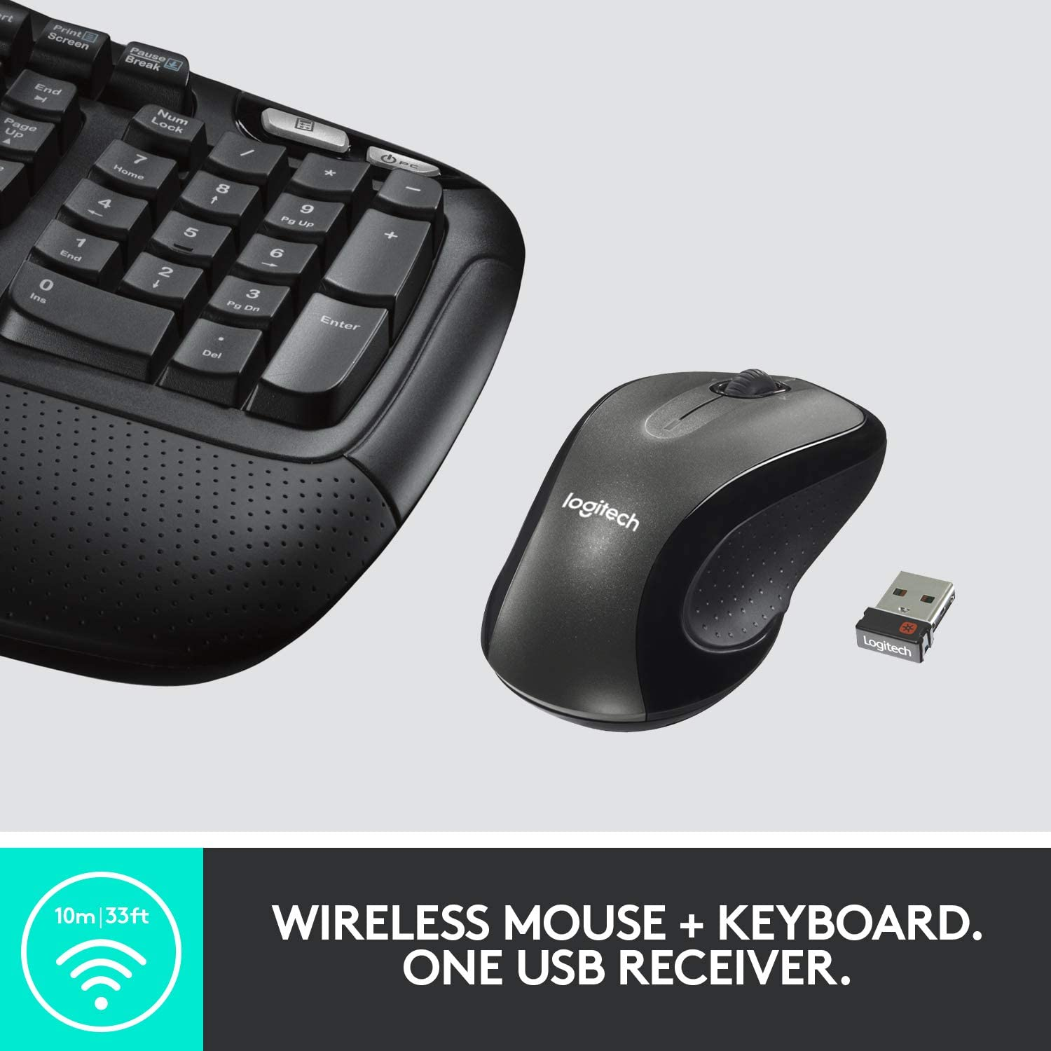 Logitech MK550 Wireless Wave Keyboard And Mouse Combo With Unifying Very Good