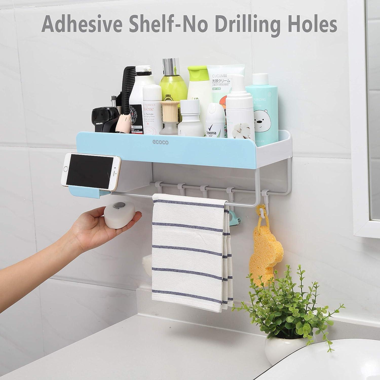 iHEBE 浴室储物架,无需墙上打孔就可以固定