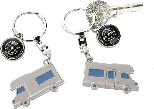 Gilde Schlüsselanhänger Wohnwagen Wohnmobil Mit Kompass Küche Haushalt