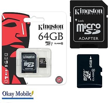 Original Kingston MicroSD 64 GB Tarjeta De Memoria Para Samsung ...