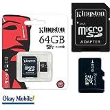 Original Kingston MicroSD SDHC Speicherkarte 64GB Für Samsung Galaxy A5 (7) (2017) duos 64GB