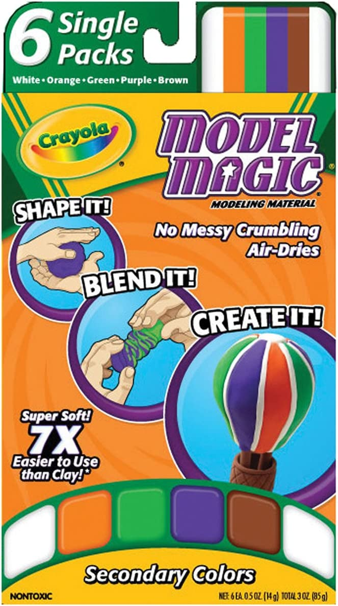Crayola Model Magic, Secondary Colors, Alternative to Modeling Clay