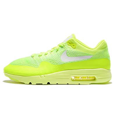 21f62cc7bf Image Unavailable. Image not available for. Color: Nike Men's Air Max 1  Ultra Flyknit, VOLT/WHITE-ELECTRIC GREEN ...