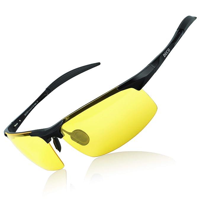 56b6b7e257deb DUCO Mens Sports Golf Polarised Sunglasses For Men Driving Glasses UV  Protection 8177s (Black Frame Yellow Lenses)  Amazon.co.uk  Clothing