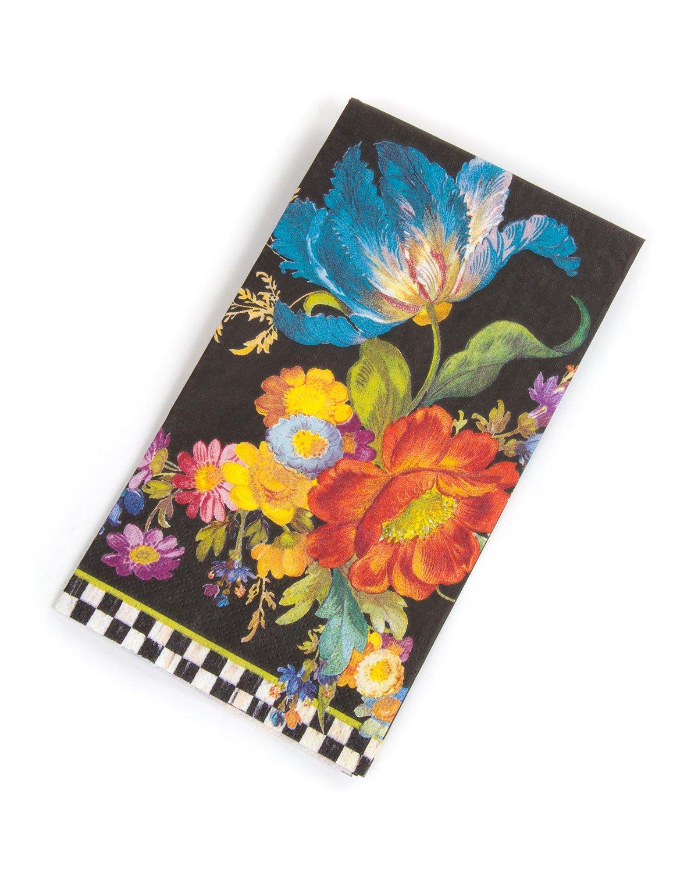 MacKenzie-Childs Flower Market Paper Napkins - Guest White (4.5''W X 8''L)