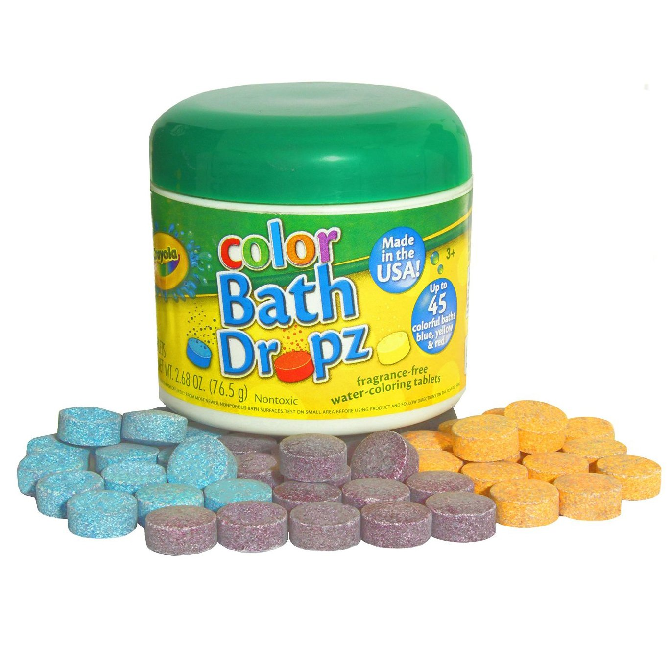 Crayola Color Bath Dropz 2.68 oz 45 Tablets