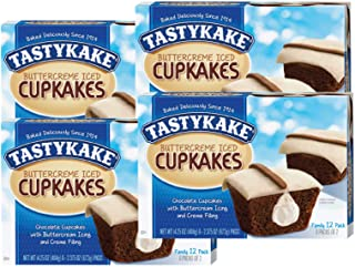 product image for Tastykake Cupkakes in Your Choice of Four Varieties Family Size 12 Pack- A Philadelphia Baking Institution (Iced Buttercreme, 4 Pack)