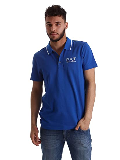 cce7db472a EA7 Polo Emporio Armani 7 Man 3ypf52 Colors Pique Shirt | Amazon.com