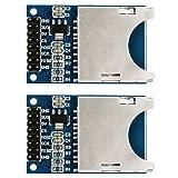 COM-FOUR® SD Karten-Leser Modul SPI SD Card Sockel für Arduino ARM MCU (2 Stück)