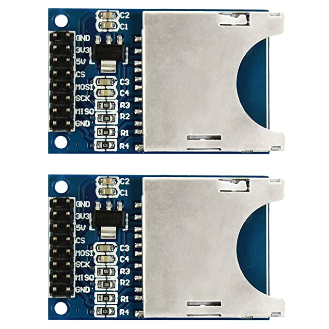 1 opinioni per COM-FOUR® SD Card Reader SPI SD Card Socket per Arduino Arm MCU (2 PCS)