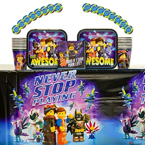 Amazon.com: Lego Movie 2 Party Supplies Pack for 16 Guests ...
