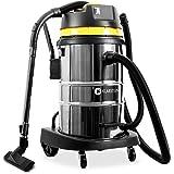 Klarstein IVC-50 • Aspirapolvere industriale • 2000 W • Protezione IP X4 • Contenitore acciaio inox da 50 litri • Chiusura rapida in metallo • Filtro HEPA • Tubo drenante da 70 cm • giallo-argento