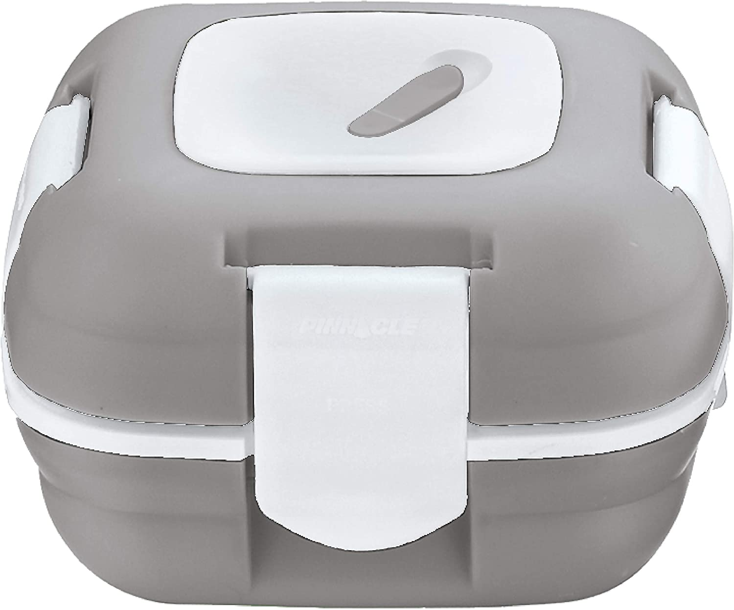 Lunch Box ~ Pinnacle Insulated Leak Proof Lunch Box for Adults and Kids - Thermal Lunch Container With NEW Heat Release Valve, 16 oz - Grey White