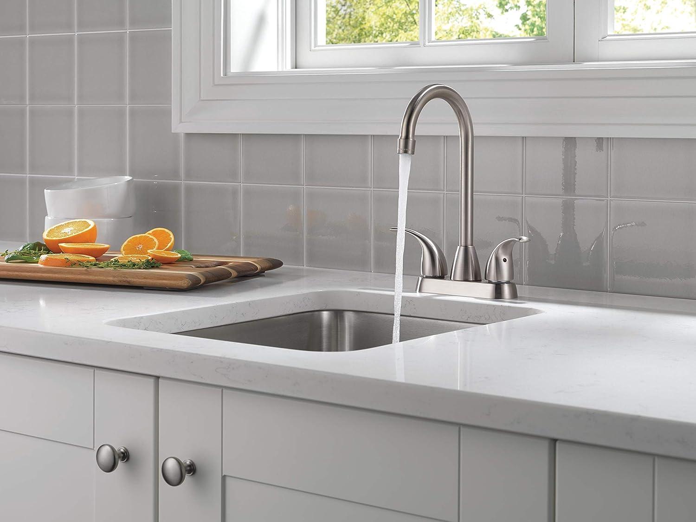 Peerless Tunbridge 2-Handle Bar-Prep Kitchen Sink Faucet, Stainless P288LF-SS - Bar Sink Faucets -