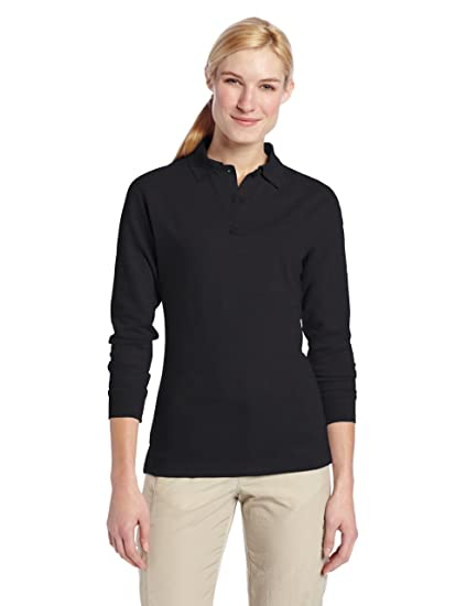 feca93330 Amazon.com  TRU-SPEC Women s 24-7 Cotton Polyester Long Sleeve Polo ...
