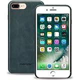 iPhone 7 Plus ケース 本革レザー jisoncase®アイフォン7 Plus カバー 背面カバー 耐摩擦 耐汚れ 衝撃吸収 薄型 軽量 約24g 全面保護 スリム シンプル スマートフォン カバー 手作り ハンドメイド 人気 全四色 (iPhone 7 Plus, ブルー JS-I7L-03A40)