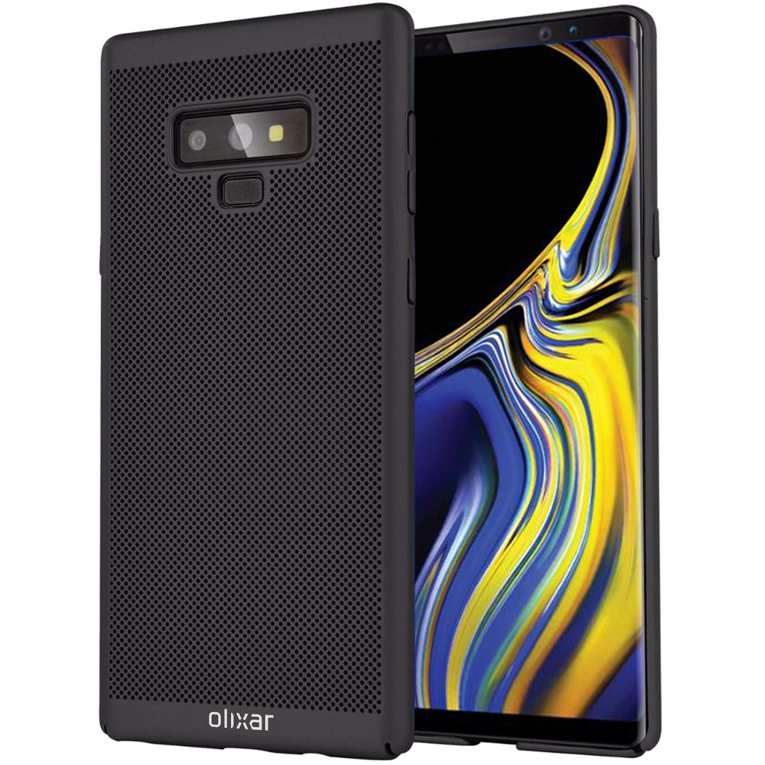 Olixar for Samsung Galaxy Note 9 Slim Case - Heat Dissipating Mesh Cover - MeshTex - Cooling Case - Breathable Case - Wireless Charging Compatible - Black