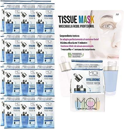 Pack 24 Mascarillas faciales Hyaluronic Tissue Mask hidratación ...