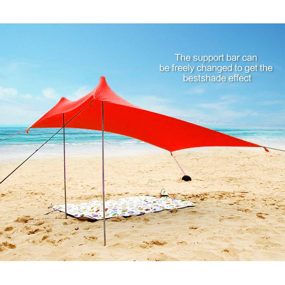 Lovebay Sonnensegel Outdoor Strandmuschel uv Schutz Wandern Strand Angeln Picknick Zelt 4 Personen leicht 100/% Lycra Sichtschutz Garten Vorzelte 210 x 210 cm f/ür Camping