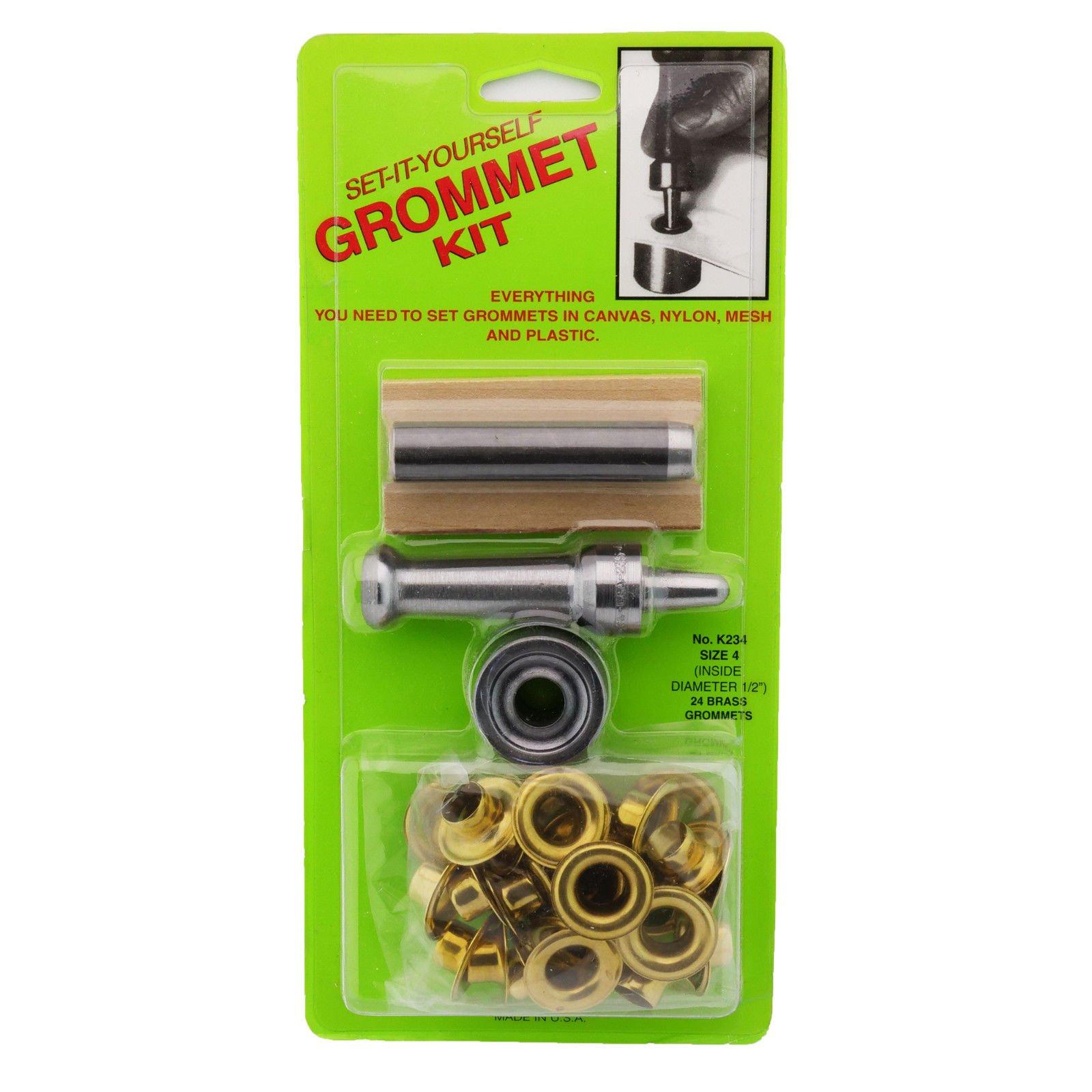 C.S. Osborne Set-It-Yourself Grommet Kit K234-4, 1/2'' Hole, W/Brass Grommets by C.S. Osborne