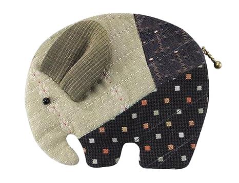 Adolescentes Niñas elefante cartera monedero para hacer fácil de coser proyecto – Kit de manualidades