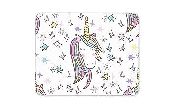 Pretty Unicorn Alfombrilla de ratón, diseño de Unicornio, para niños, para Regalo de