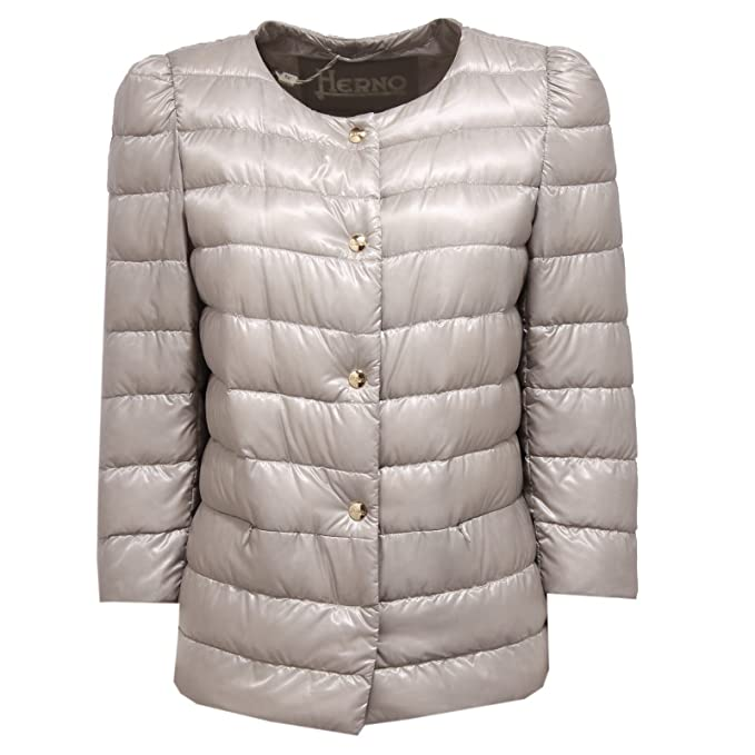 Herno 0531W piumino donna light grey ultra light jacket woman [46]: Amazon.es: Ropa y accesorios