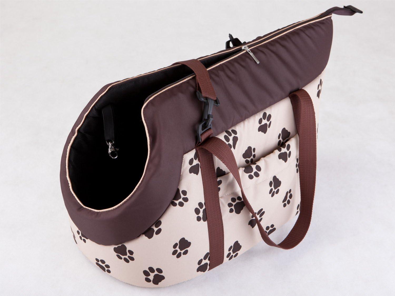 Hobbydog Gate BWL4/Paw Print Dog//Cat Carry Bag/ /32/x 30/x 50/cm Beige