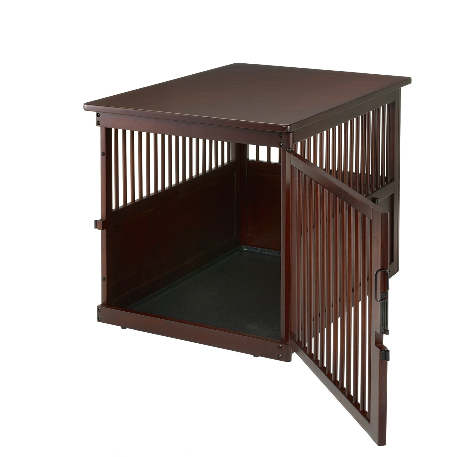 Amazon Richell Wooden End Table Crate Dark Brown