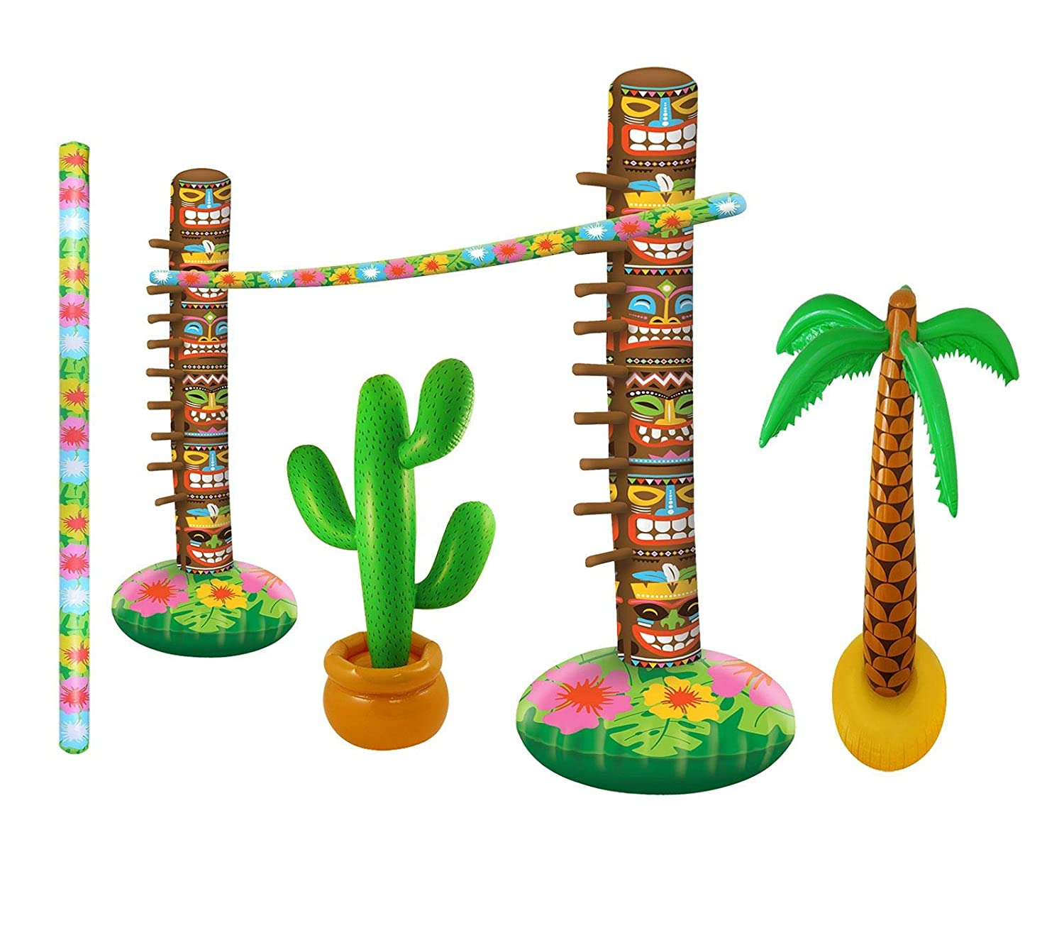 Islander Fashions Inflatable Limbo Game Palm Tree Cactus ...