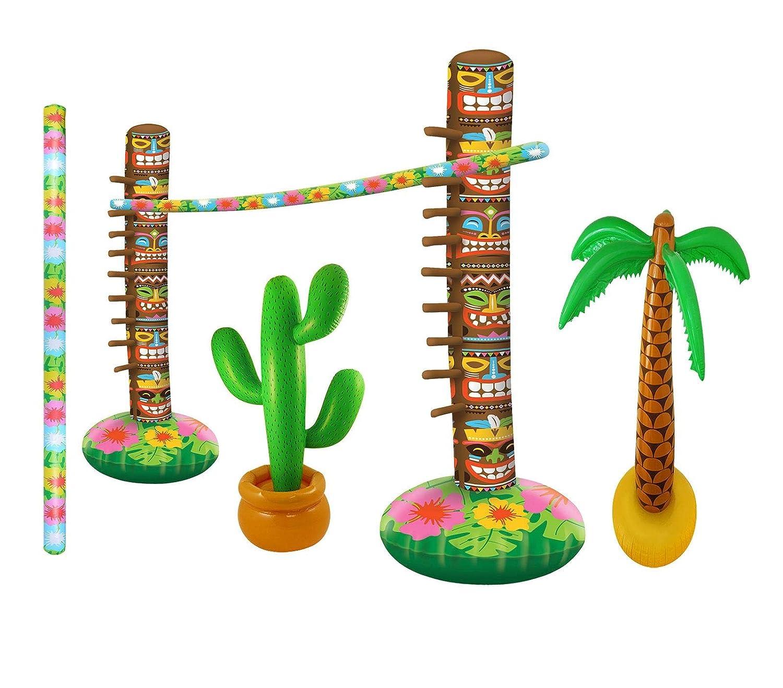 Islander Fashions Inflatable Limbo Game Palm Tree Cactus ...