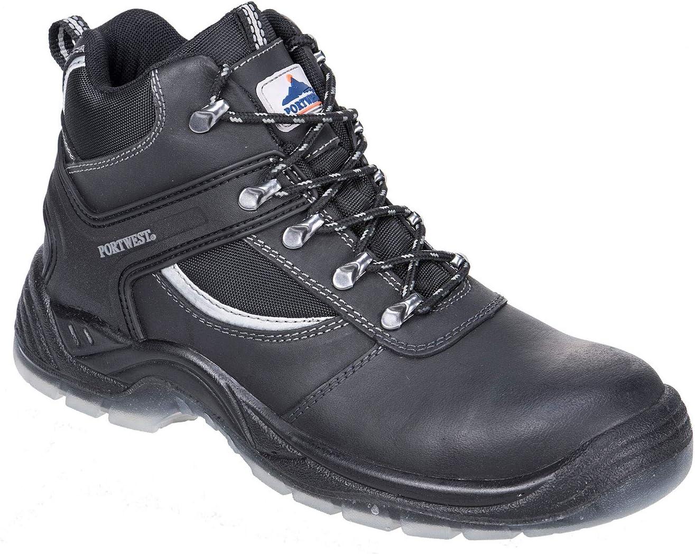 39 Portwest FW65/Steelite Arbeitsgruppe Boot-39//6 Schwarz